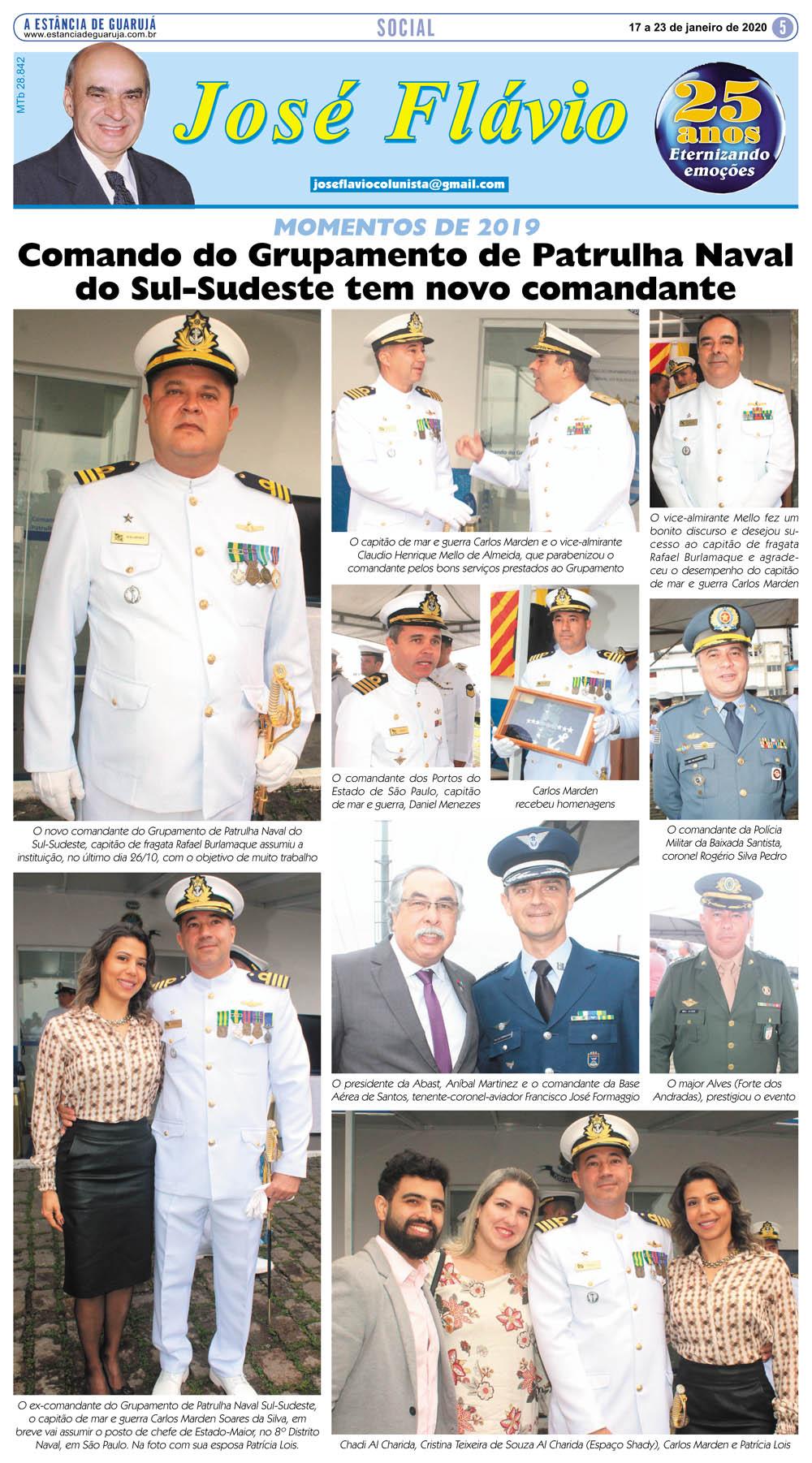 Comando do Grupamento de Patrulha Naval do Sul-Sudeste tem novo comandante