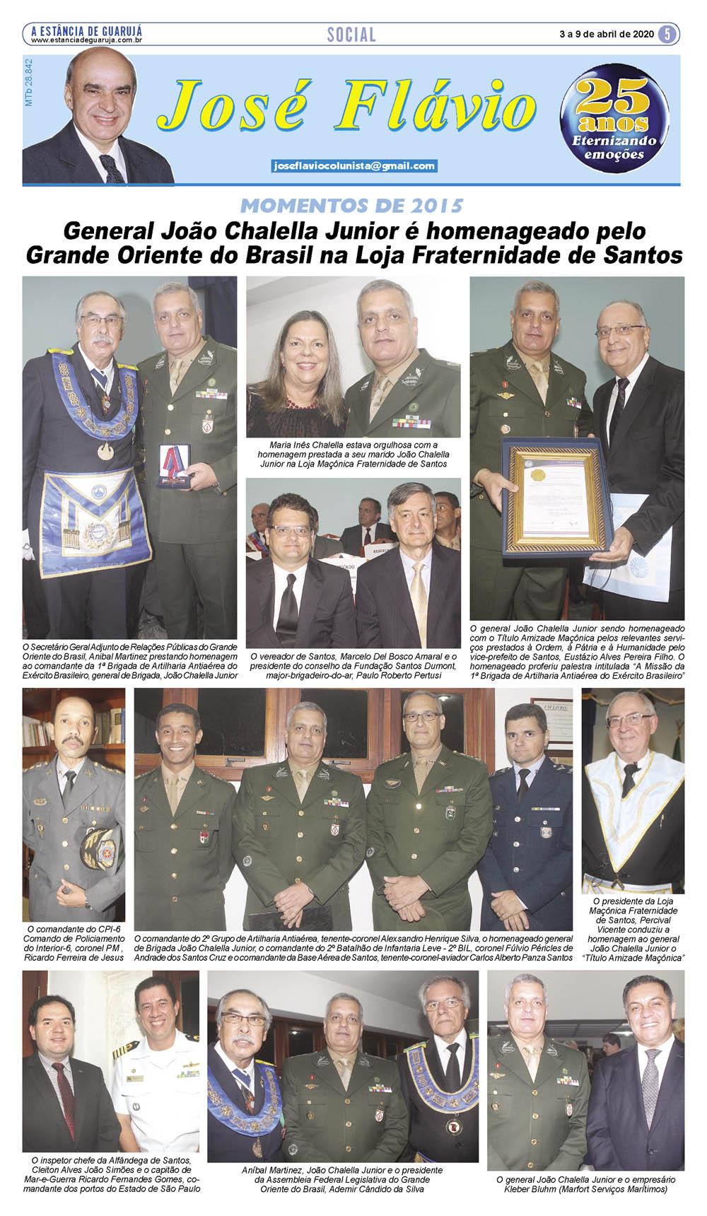 General João Chalella Junior recebe homenagem