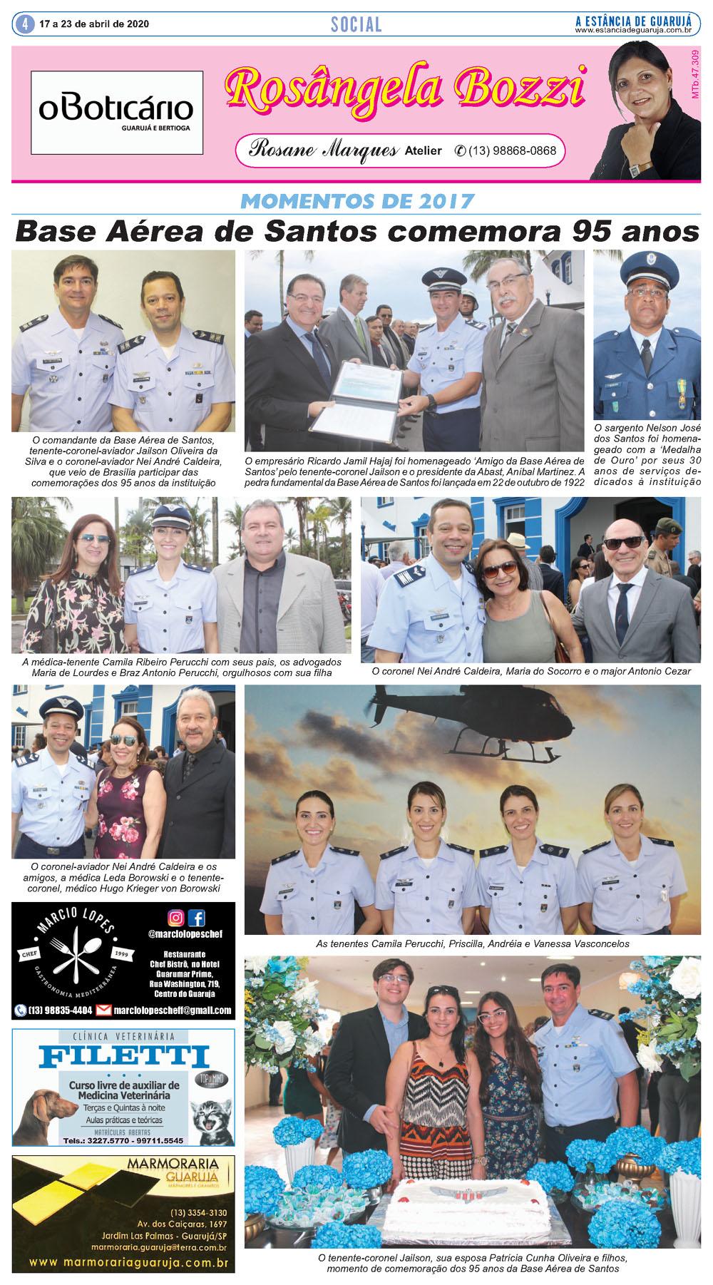 Reveja momentos da comemoração do aniversário da Base Aérea de Santos