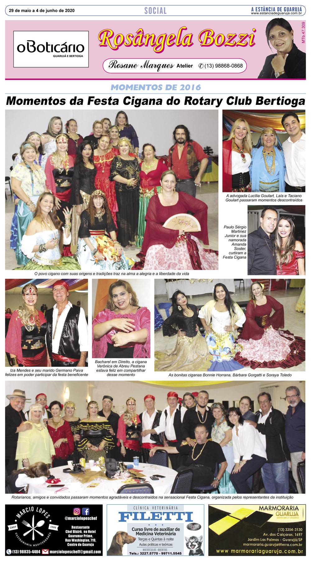 Festa Cigana no Rotary Club Bertioga