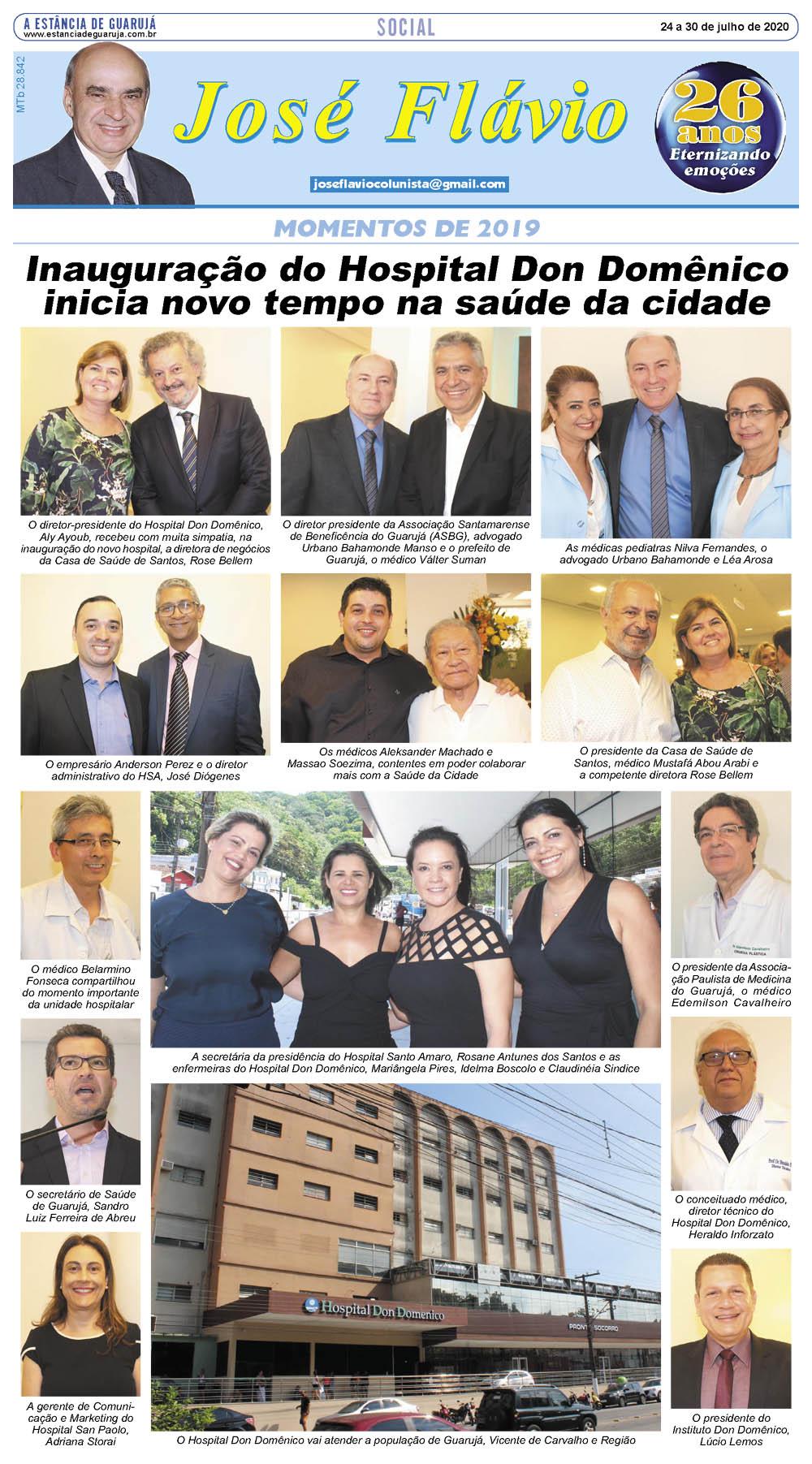 Momentos da inauguração do Hospital Don Domênico