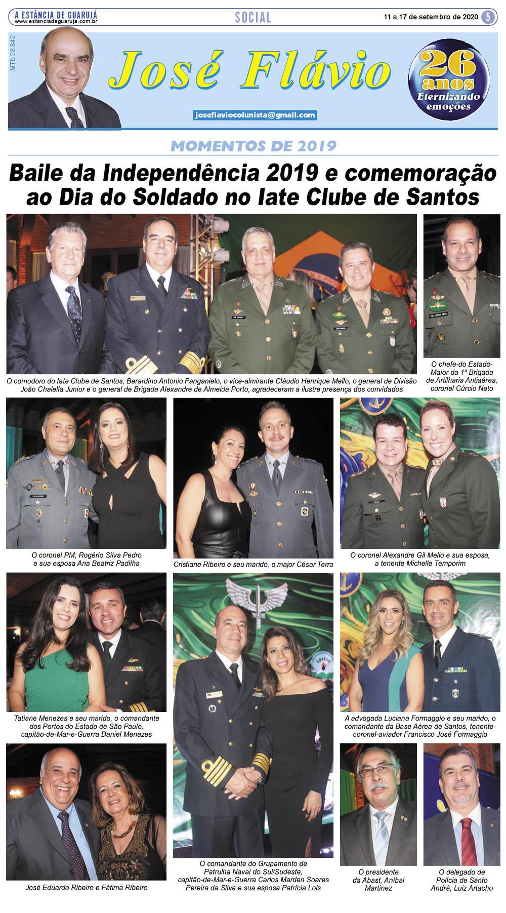 Baile da Independência e Dia do Soldado no Iate Clube