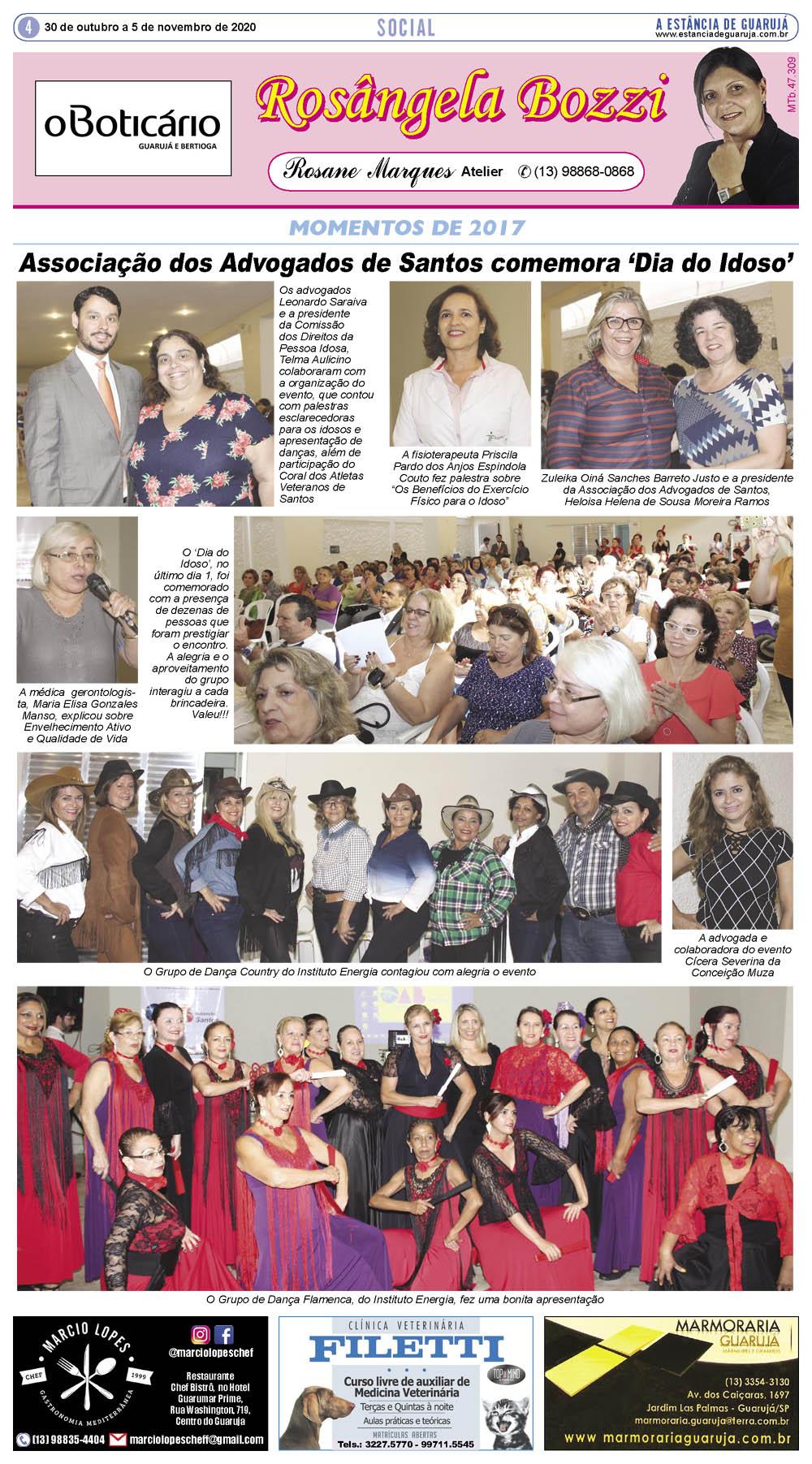 Associação dos Advogados de Santos comemora 'Dia do Idoso'