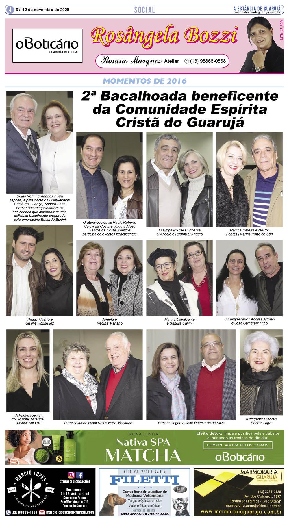 Bacalhoada beneficente da Comunidade Espírita Cristã do Guarujá