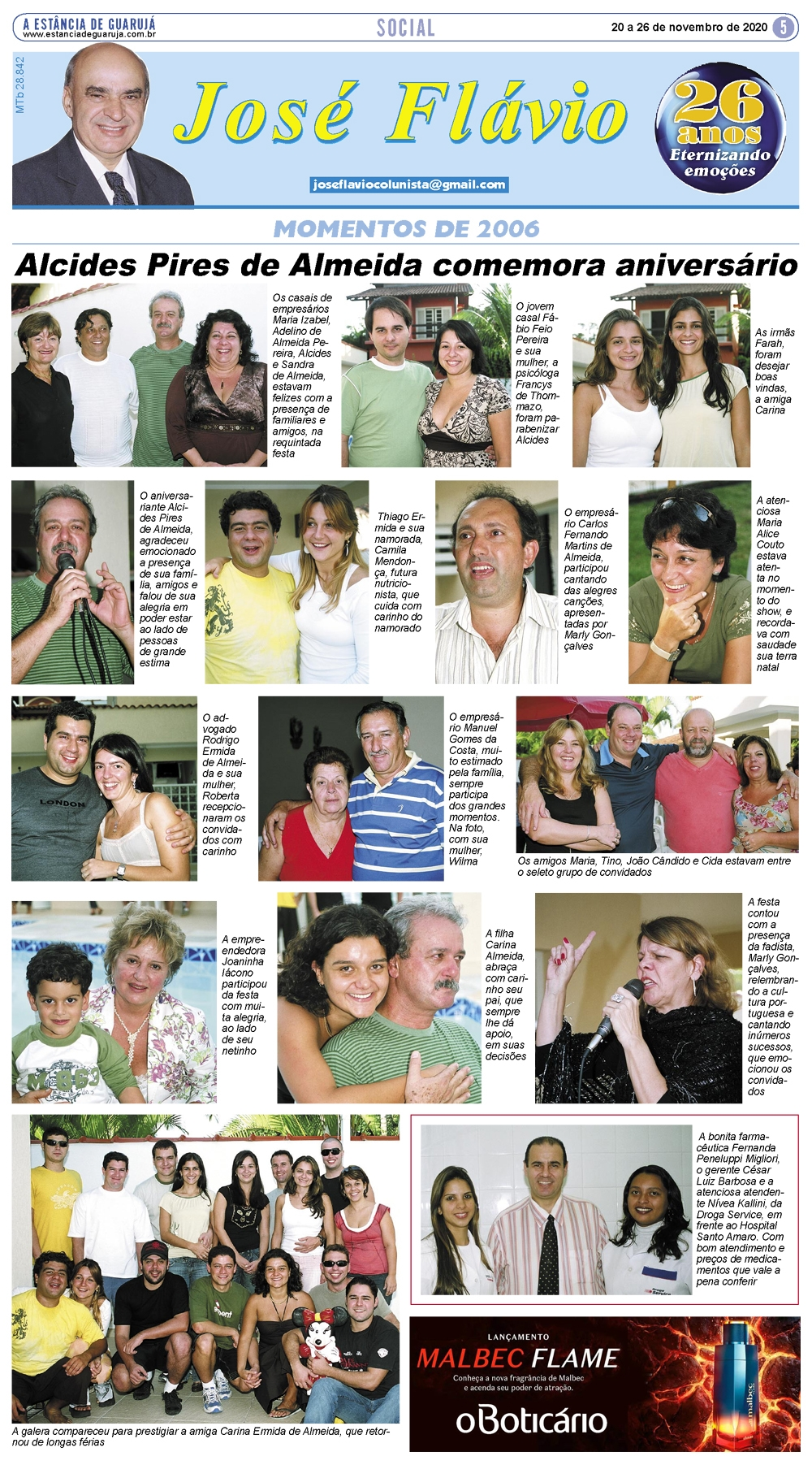 Alcides Pires de Almeida comemora aniversário