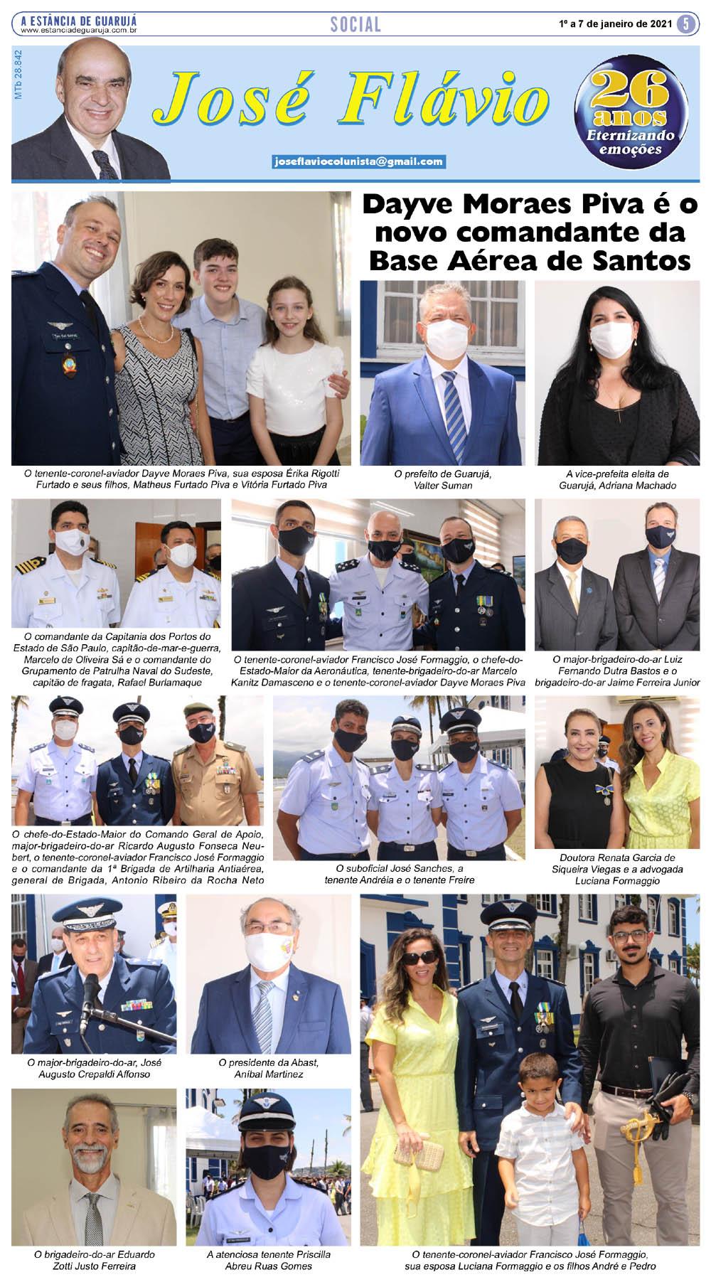 Dayve Moraes Piva é o novo comandante da Base Aérea