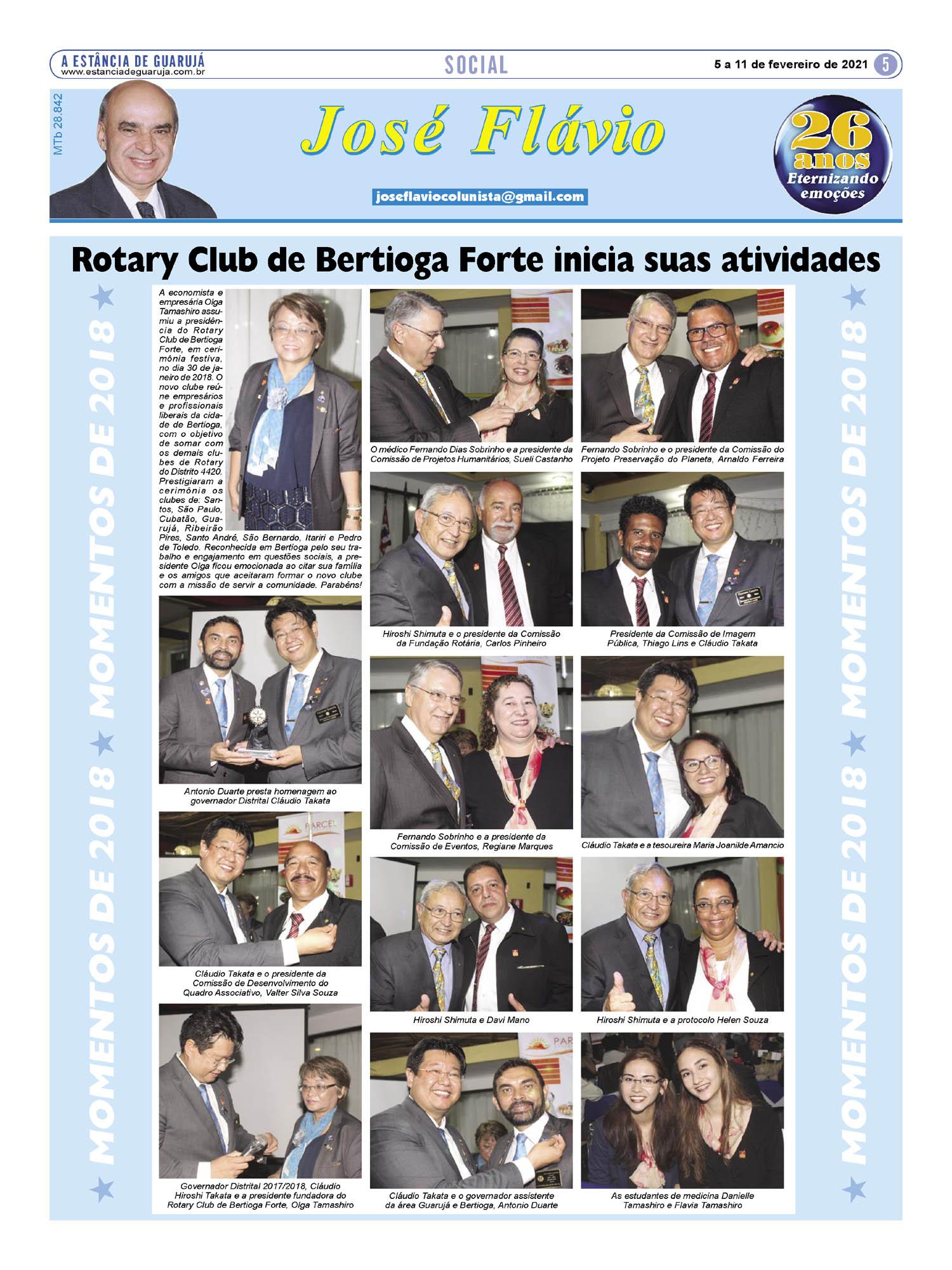 Rotary Club de Bertioga Forte inicia suas atividades