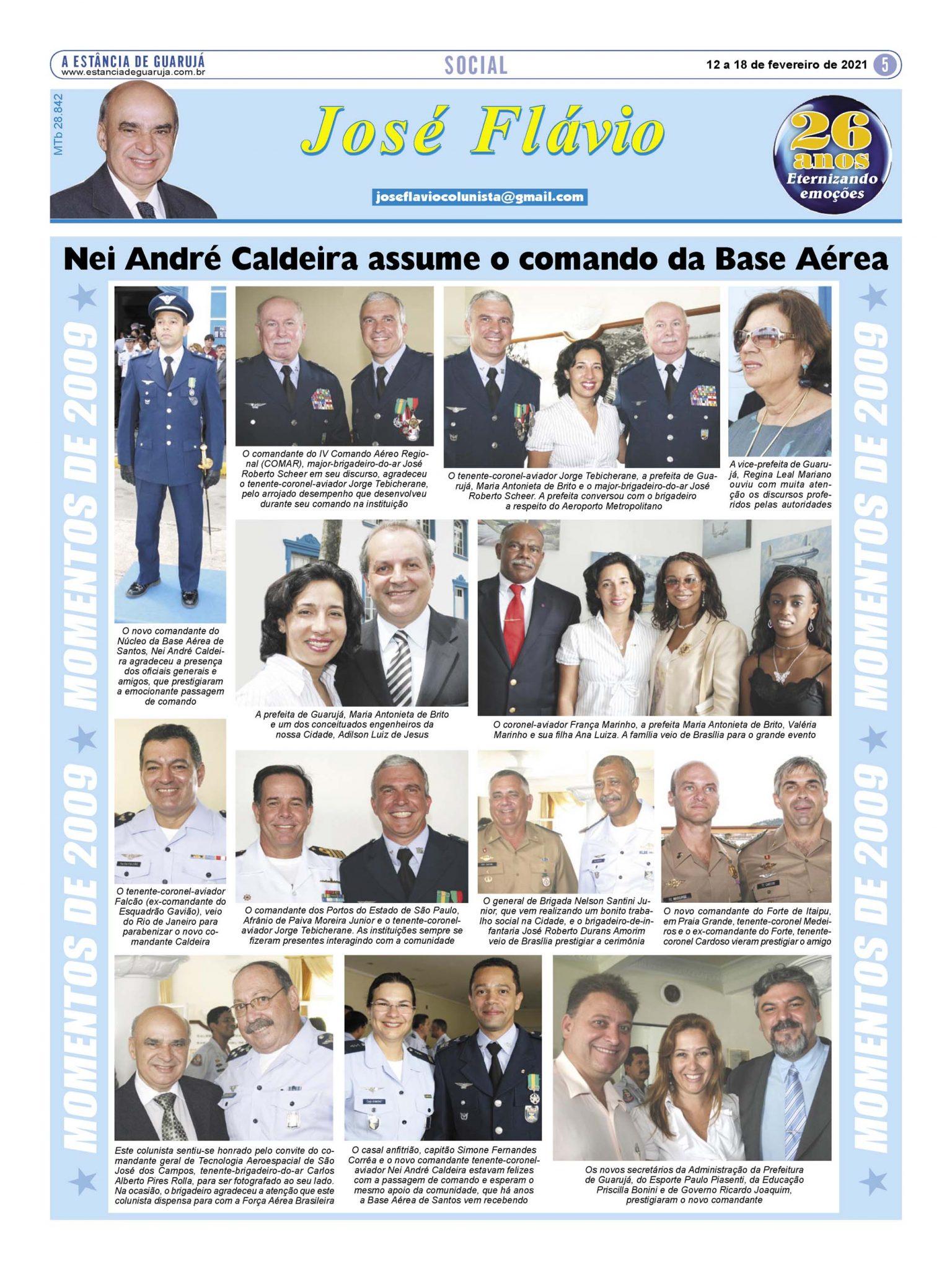 Nei André Caldeira assume o comando da Base Aérea