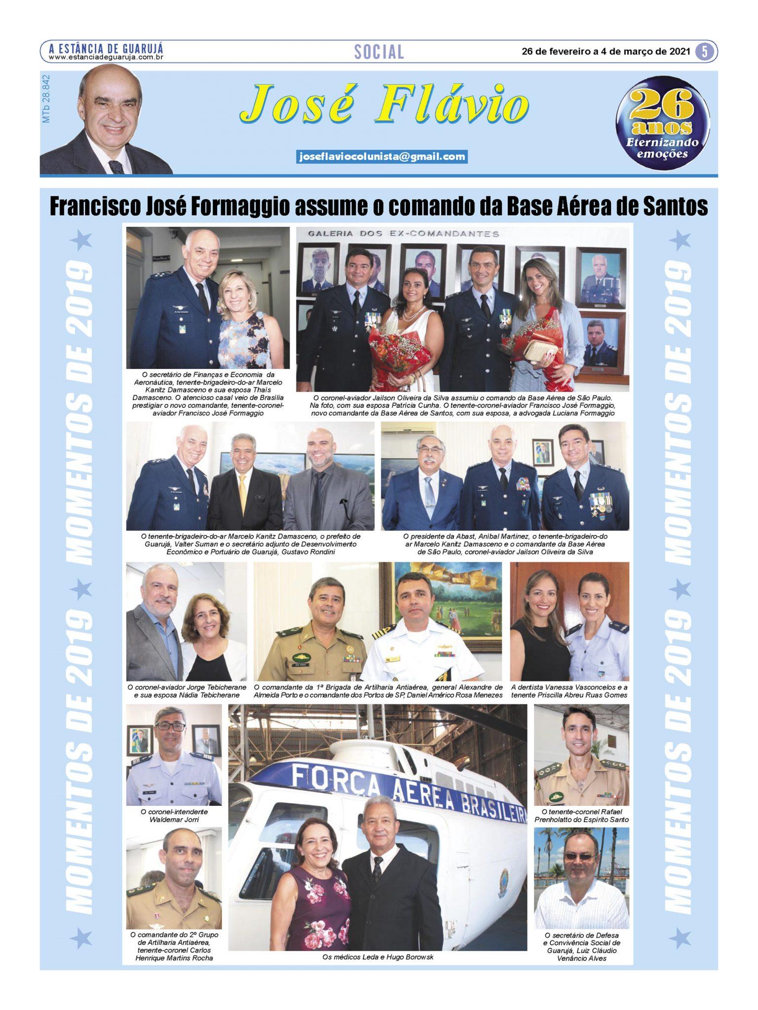 Francisco José Formaggio assume o comando da Base Aérea
