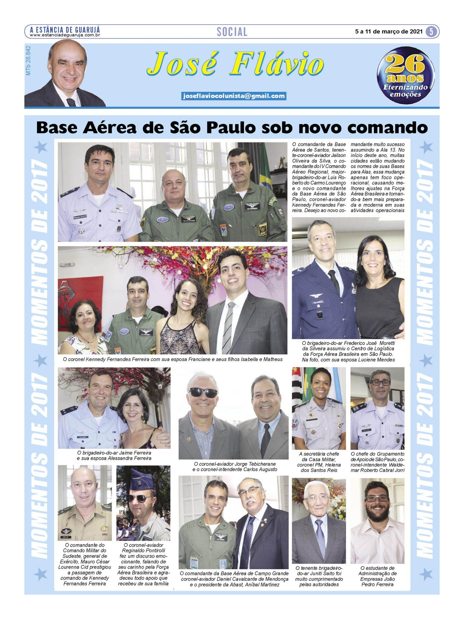 Base Aérea de São Paulo sob novo comando
