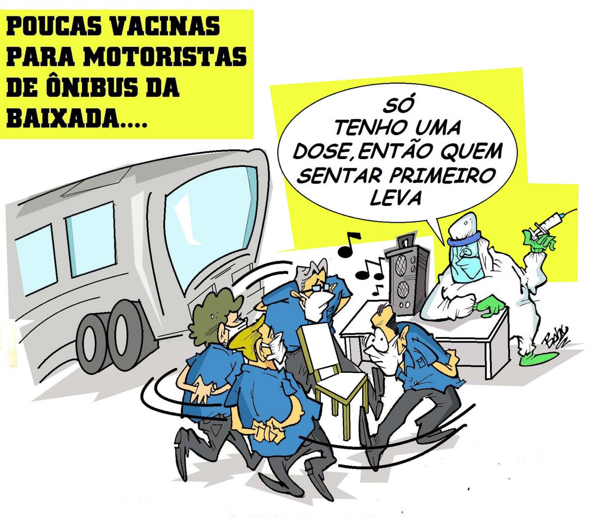 Vacinação motoristas fail